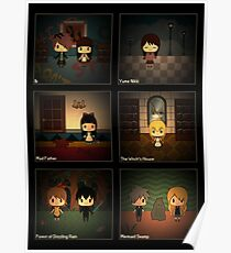 Horror RPG Chibis w/ Background Poster