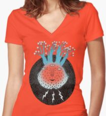 Cosmic Epiphany Heart Women's Fitted V-Neck T-Shirt