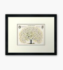 Original Genetti Family Tree Framed Print