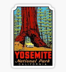 Yosemite National Park California Vintage Travel Decal Sticker