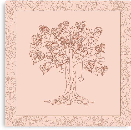 zen tree with hearts by AlinNova