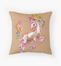 Joyful Unicorn Throw Pillow
