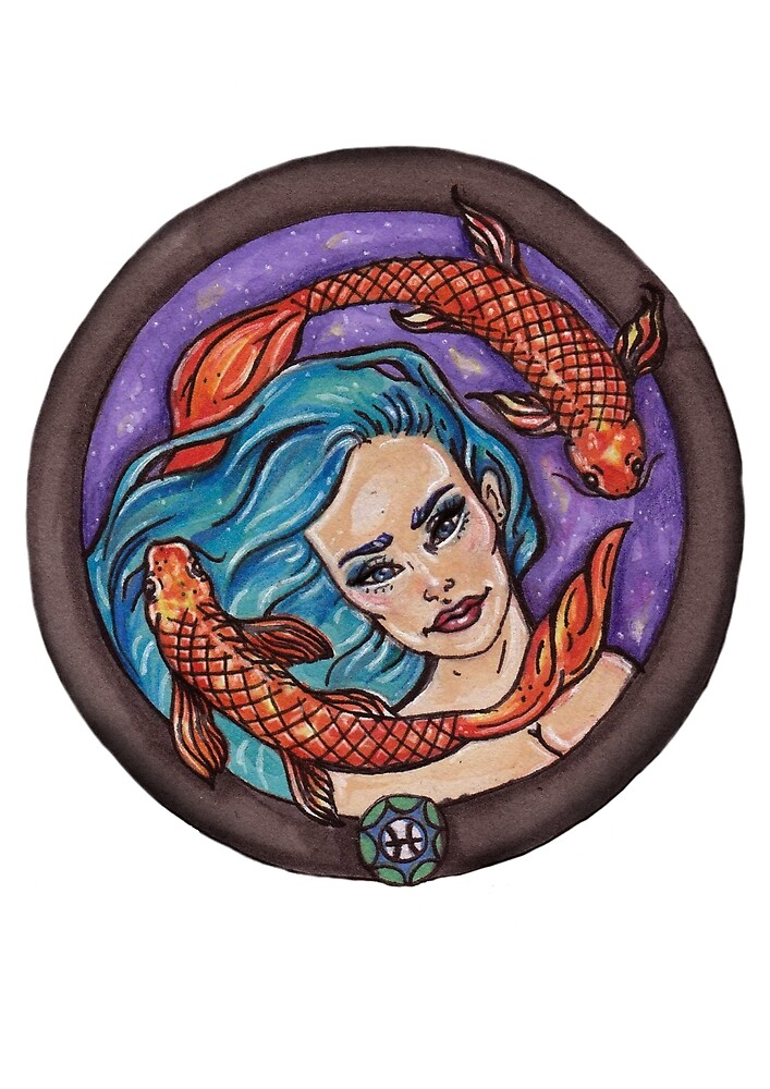Pisces by Moonstone Illustration