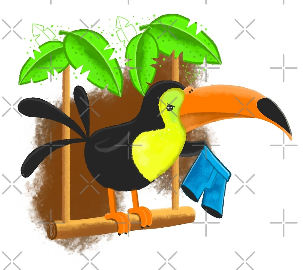 Toucan trouser theft by jasmineberry