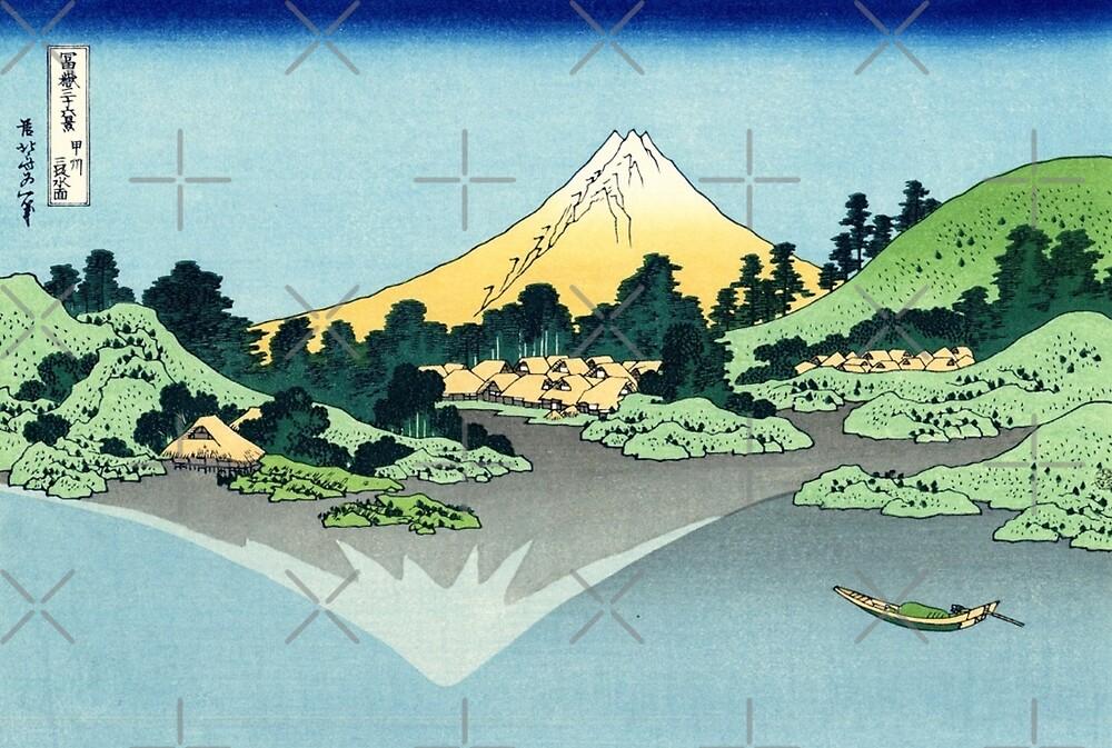 Mount Fuji Reflection on Lake Misaka by diane  addis