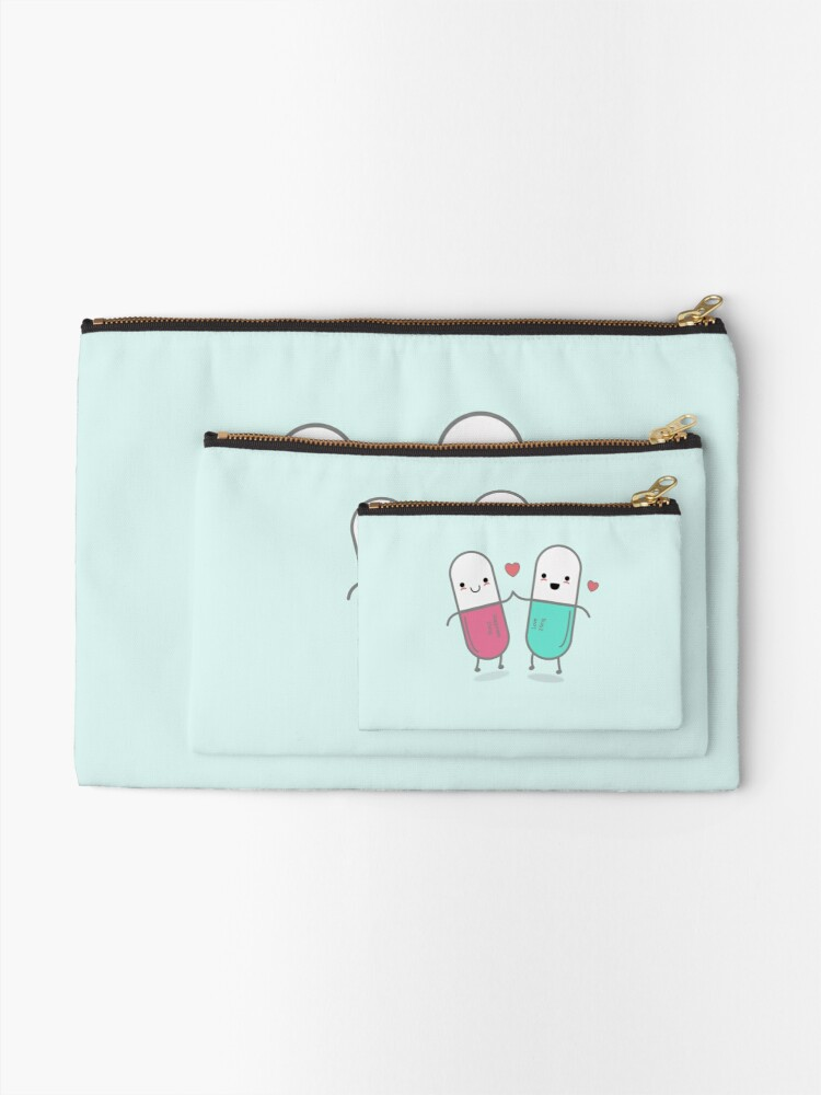Alternate view of Funny Happy Pills  Zipper Pouch