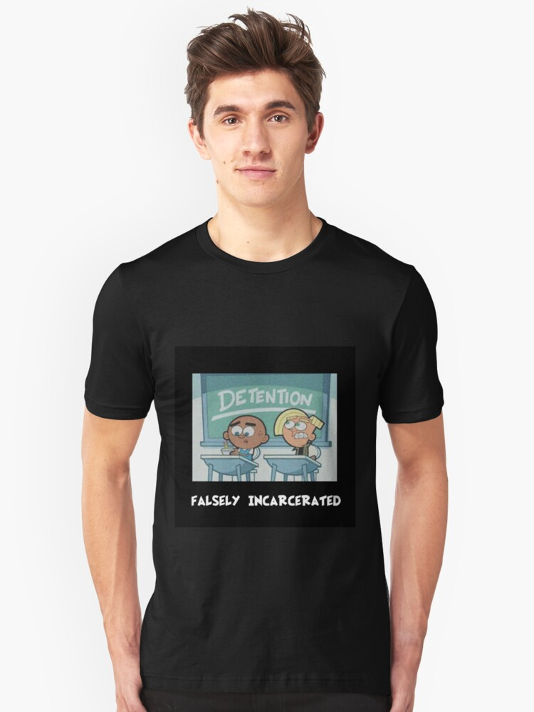DETENTION - Falsely Incarcerated Unisex T-Shirt Front