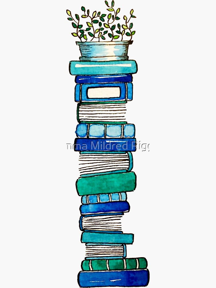 Blue Book Stack by gentlecounsel