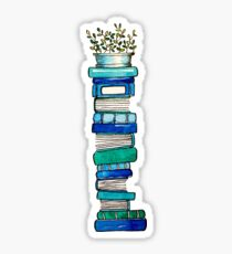 Blue Book Stack Sticker