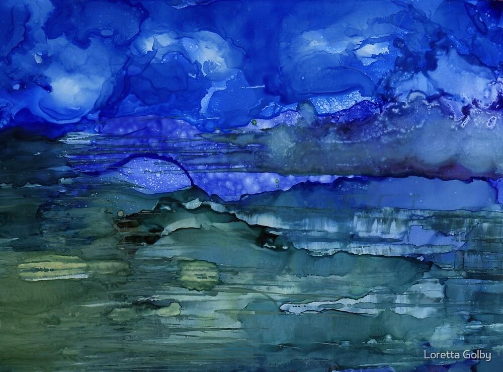 Rising Blue Moon by Loretta Golby