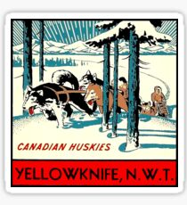 Yellowknife Northwest Territories NWT Canada Vintage Travel Decal Sticker