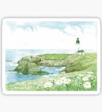 Yaquina Head Lighthouse on Oregon's Pacific Coast Sticker