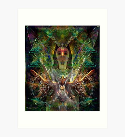 Color in Your Hands - the Luminarian (Art & Poetry) Art Print