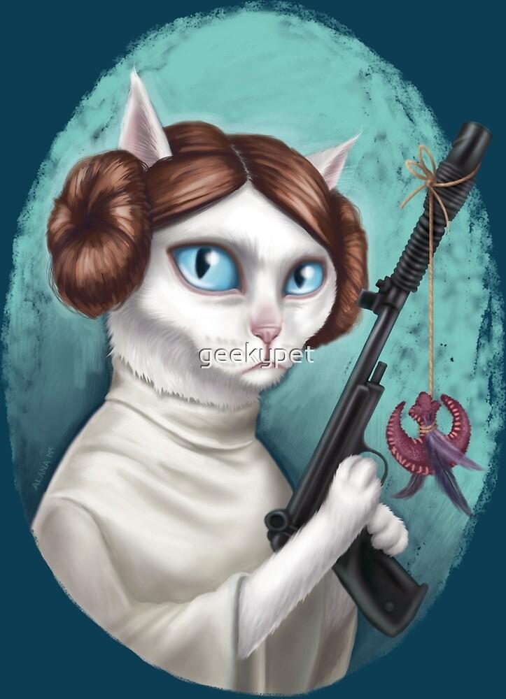 Princess Leia Cat by geekypet