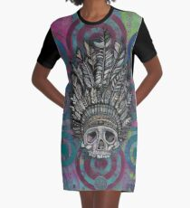 Indian Scull T-Shirt Kleid