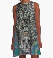 Indian Scull  A-Line Dress