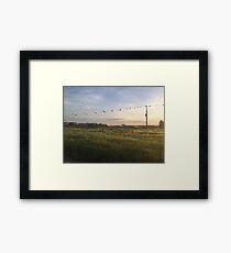 Meadow PixelArt Framed Print