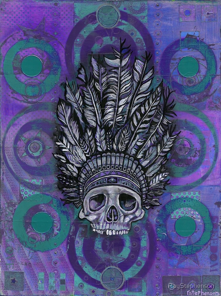 Indian Scull purple by RayStephenson