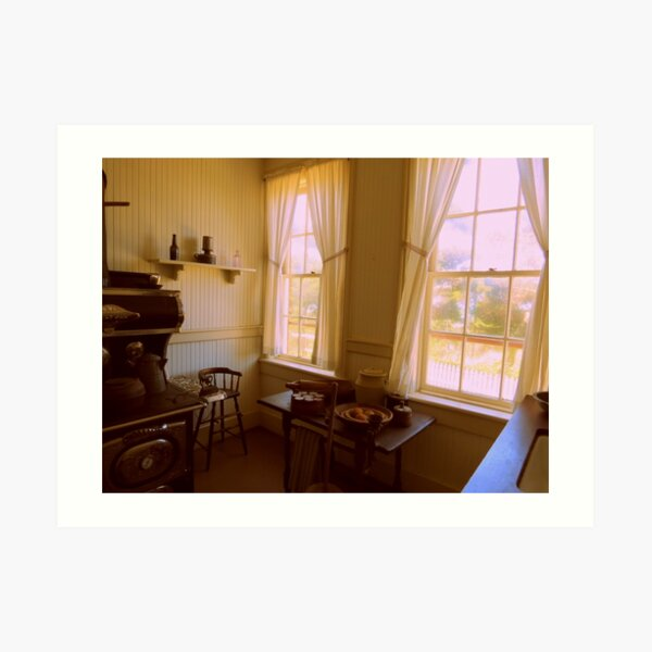 Kitchen Window's...Lighthouse At Yaquina Bay. New Port, Ore. Art Print
