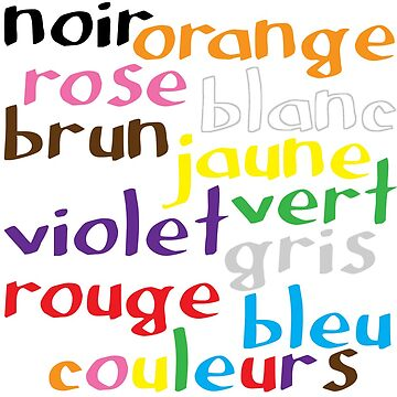 French colour words by GreenNote