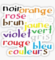 French colour words Sticker