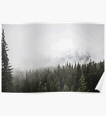 Foggy Landscape PixelArt Poster