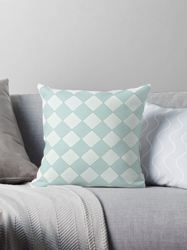 Checker pattern, pale teal,white,modern,trendy,pattern,tartan,plaid by love999