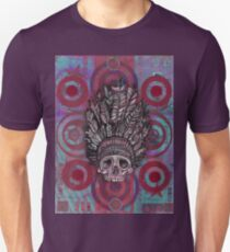 Indian Scull in Red Unisex T-Shirt