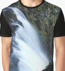 Waterfall PixelArt Graphic T-Shirt