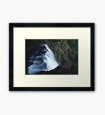 Waterfall PixelArt Framed Print
