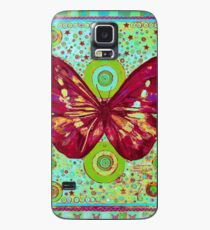 Red Butterfly Case/Skin for Samsung Galaxy