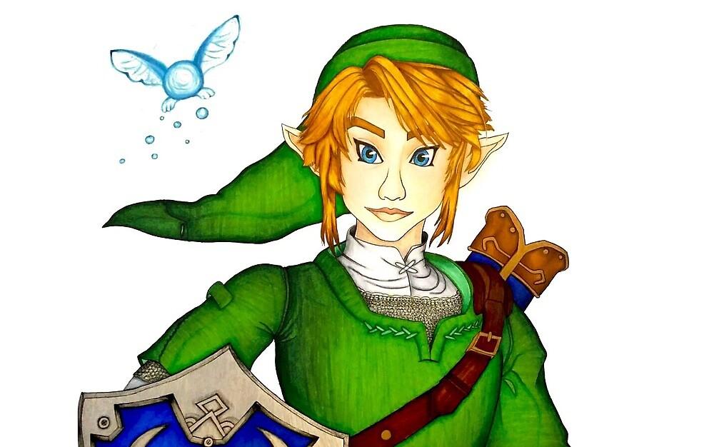 Link with navi, legend of Zelda by IRDhales