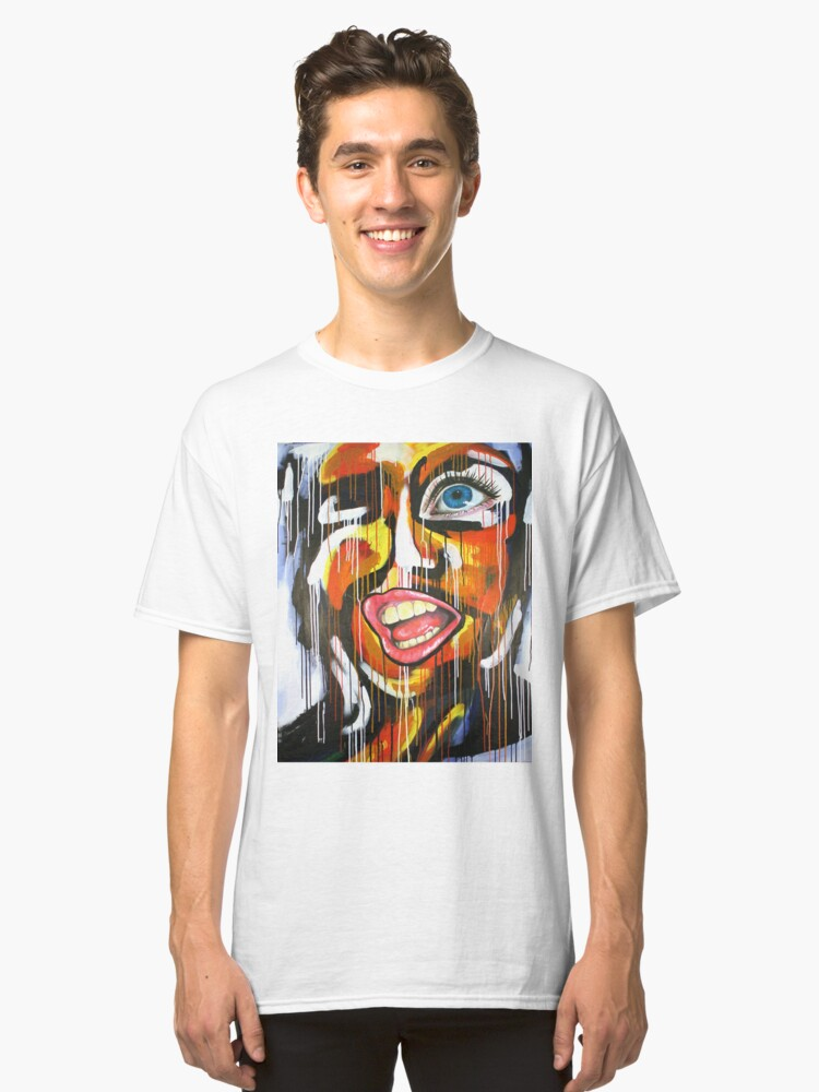 Run Your Mouth - Original Painting Classic T-Shirt Front