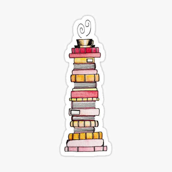 Pink Lemonade Book Stack Sticker
