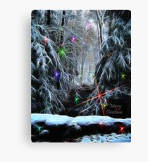 Christmas lights 2 Canvas Print
