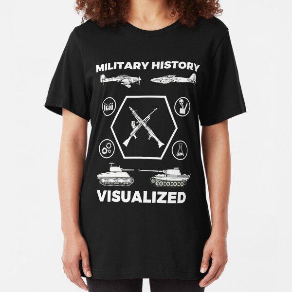 Military History Visualized - Planes, Tanks & Icons Slim Fit T-Shirt