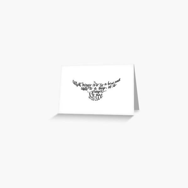 Corrie ten Boom quote bird shape prayer to the soul Greeting Card