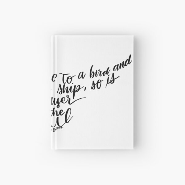 Corrie ten Boom quote bird shape prayer to the soul Hardcover Journal
