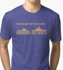 Submarines and Targets Tri-blend T-Shirt