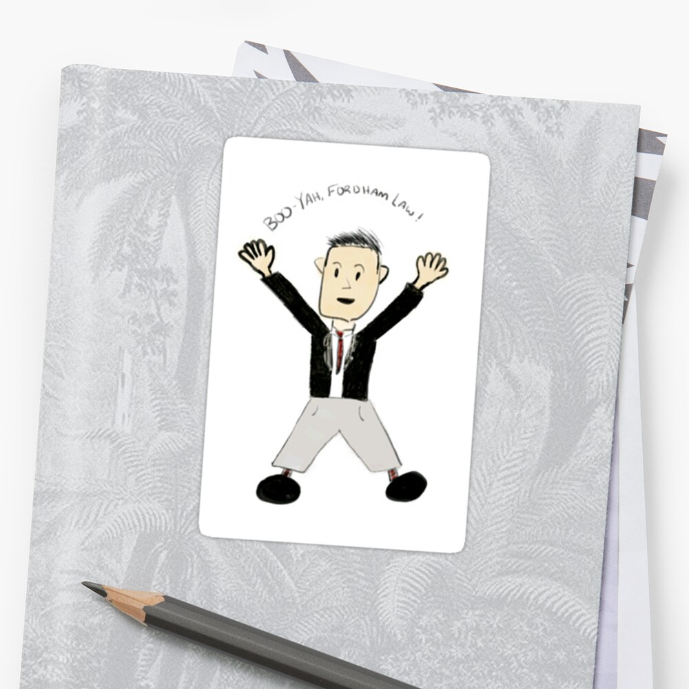 Boo-Yah Fordham Law SVU Sticker by buckyshine