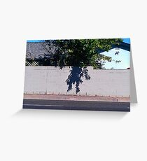 Hanging your shadow out to dry Greeting Card