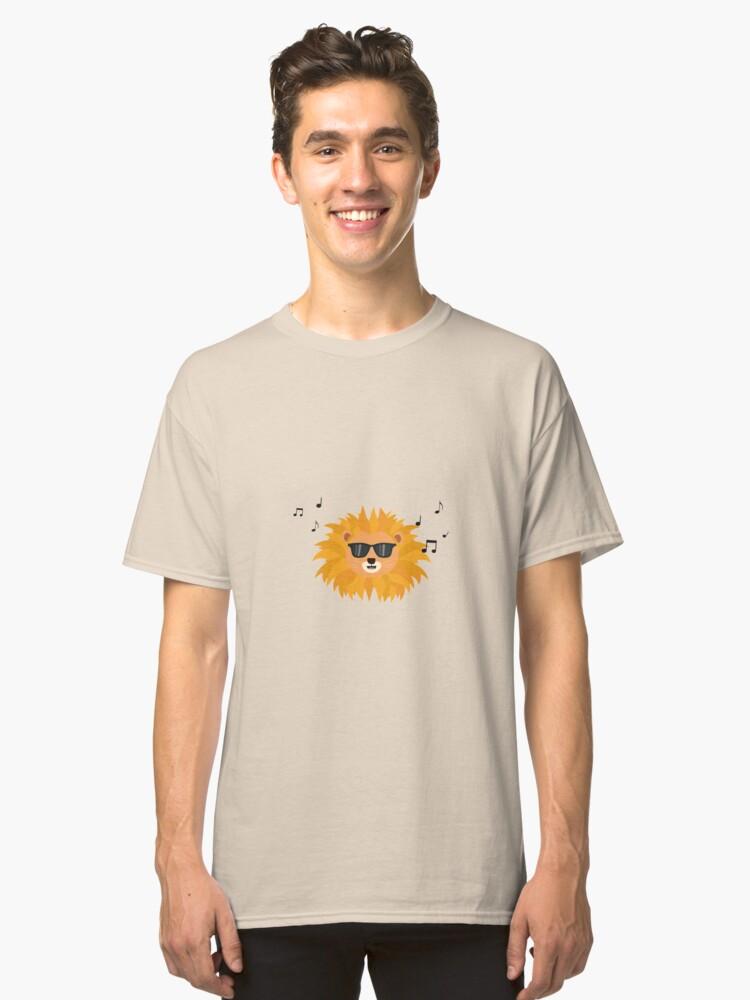 Cool Lion head Classic T-Shirt Front