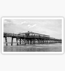 Daytona Beach Boardwalk Pier in a Black and White Photo Sticker