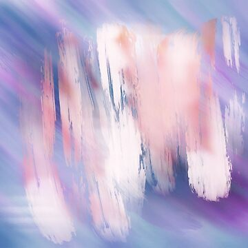Abstract Painting Purple Blue Peach Salmon by mydabug