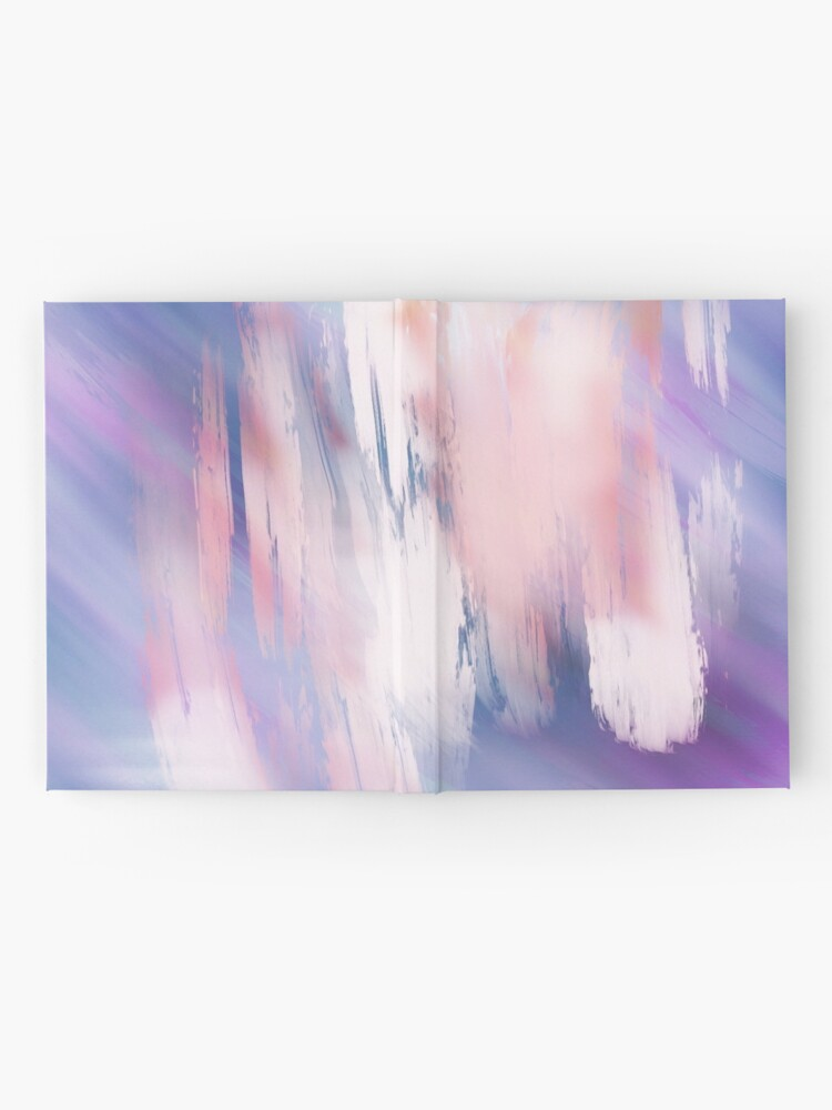 Alternate view of Abstract Painting Purple Blue Peach Salmon Hardcover Journal