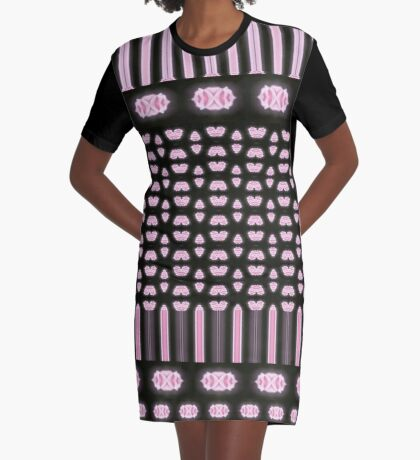 Piano Keys Designer Graphic T-Shirt Dress