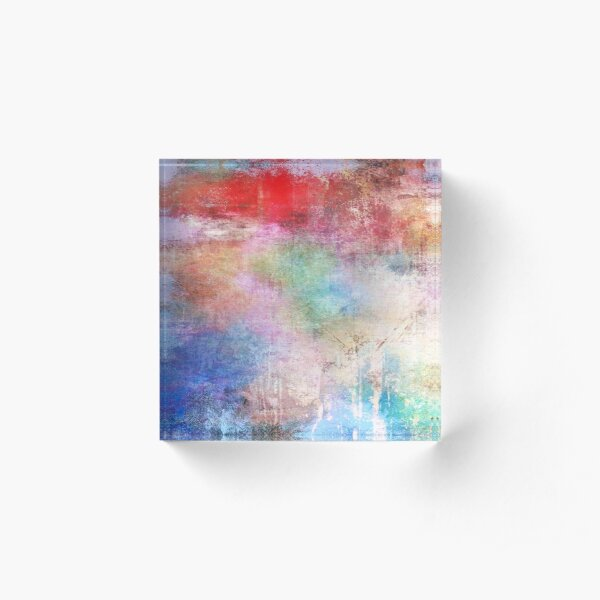 Abstract Painting  Acrylic Block
