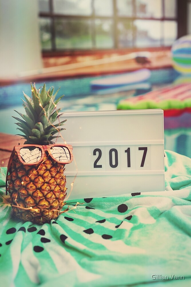 2017 with pineapple by Gillian Vann