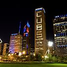 Downtown Cubs Colors by Adam Bykowski