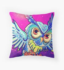 owl soulmate male Throw Pillow